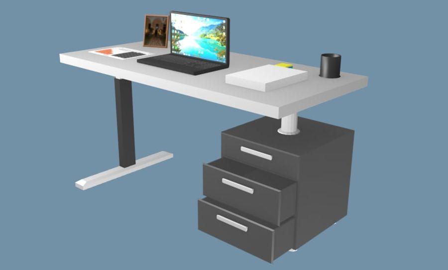 Bureau bureau royalty-free 3d model - Preview no. 3