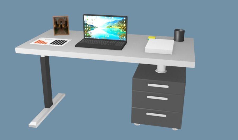 Bureau bureau royalty-free 3d model - Preview no. 1
