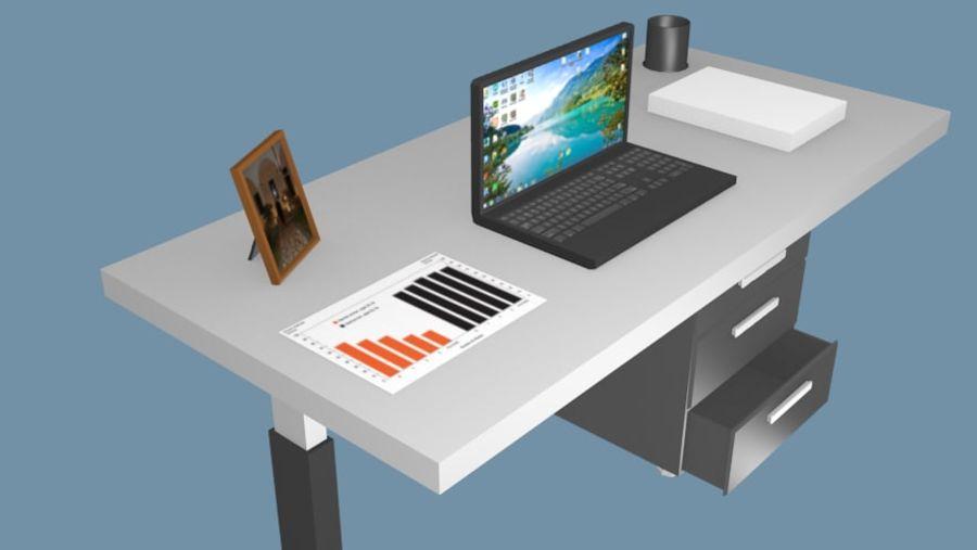 Bureau bureau royalty-free 3d model - Preview no. 5