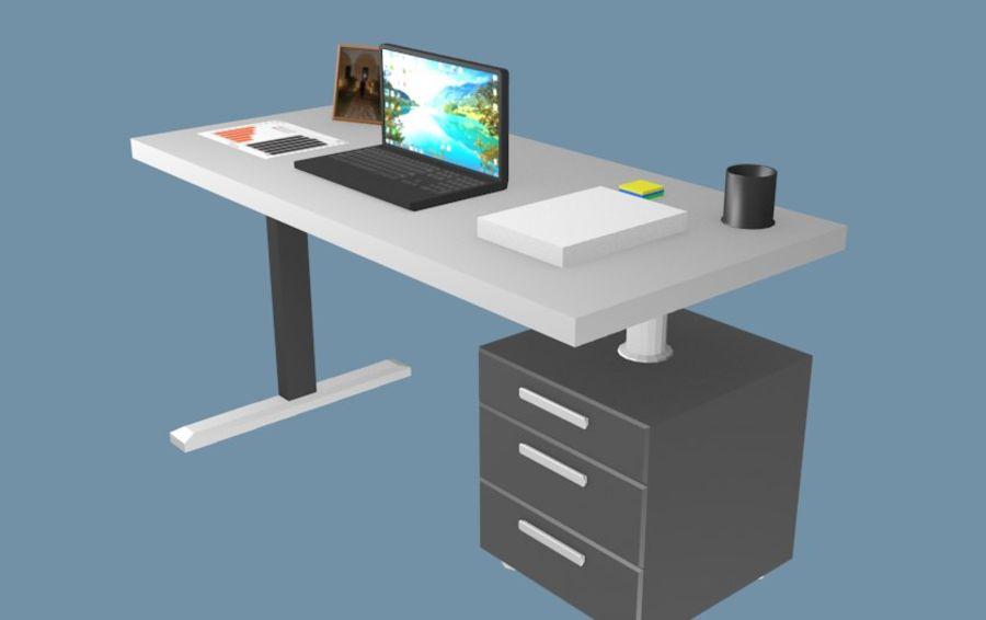 Bureau bureau royalty-free 3d model - Preview no. 2