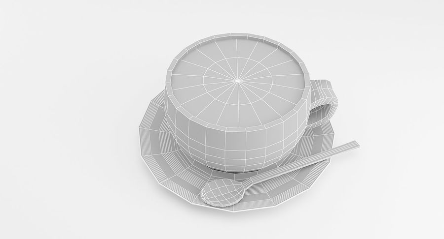 Cup of Coffee royalty-free 3d model - Preview no. 4