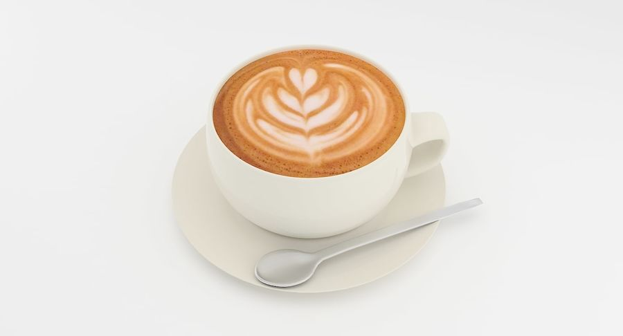 Cup of Coffee royalty-free 3d model - Preview no. 2