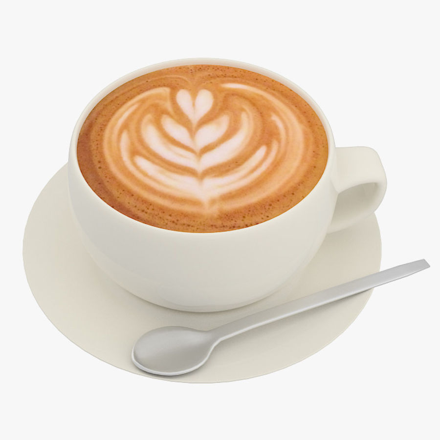 Cup of Cappuccino Coffee royalty-free 3d model - Preview no. 1