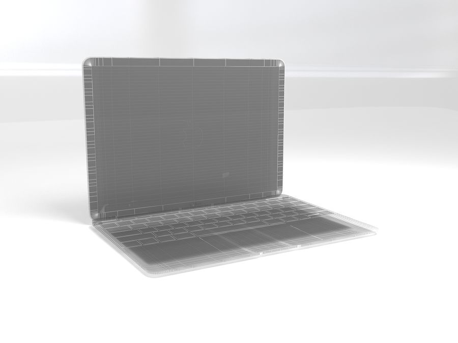 苹果Macbook 2015 royalty-free 3d model - Preview no. 3
