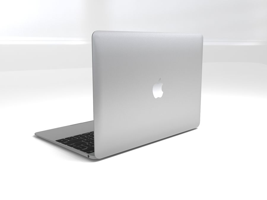 苹果Macbook 2015 royalty-free 3d model - Preview no. 4