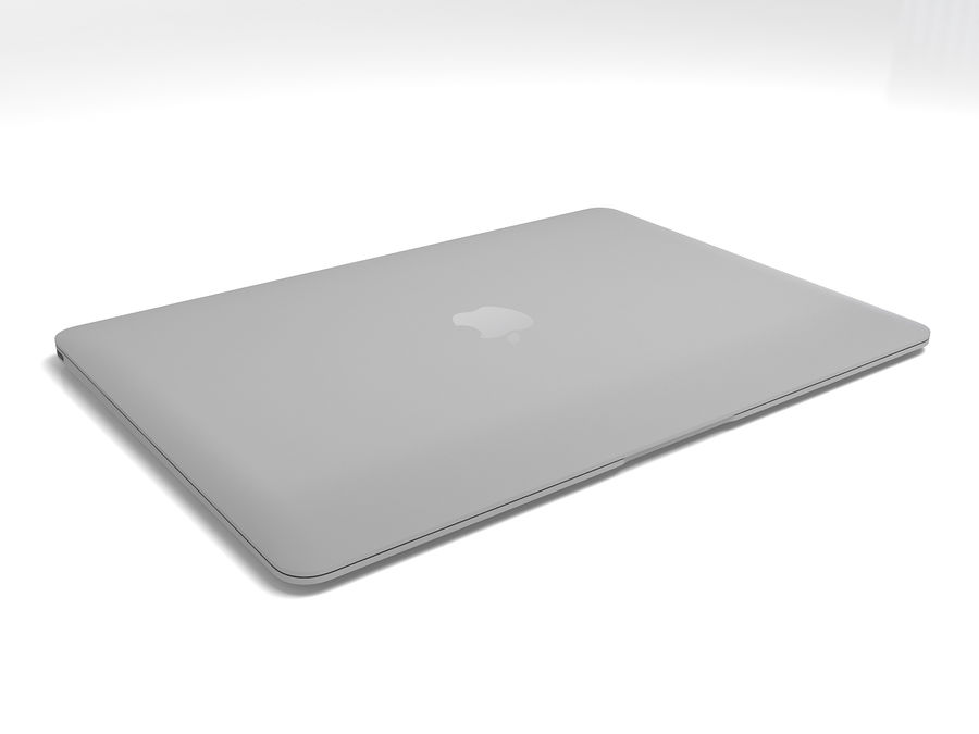 苹果Macbook 2015 royalty-free 3d model - Preview no. 6