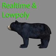 Czarny niedźwiedź 3d model