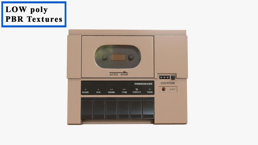 Cassette Recorder Phonemark royalty-free 3d model - Preview no. 1
