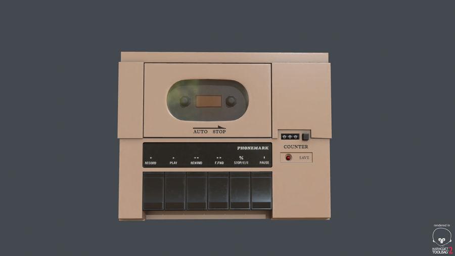 Cassette Recorder Phonemark royalty-free 3d model - Preview no. 2