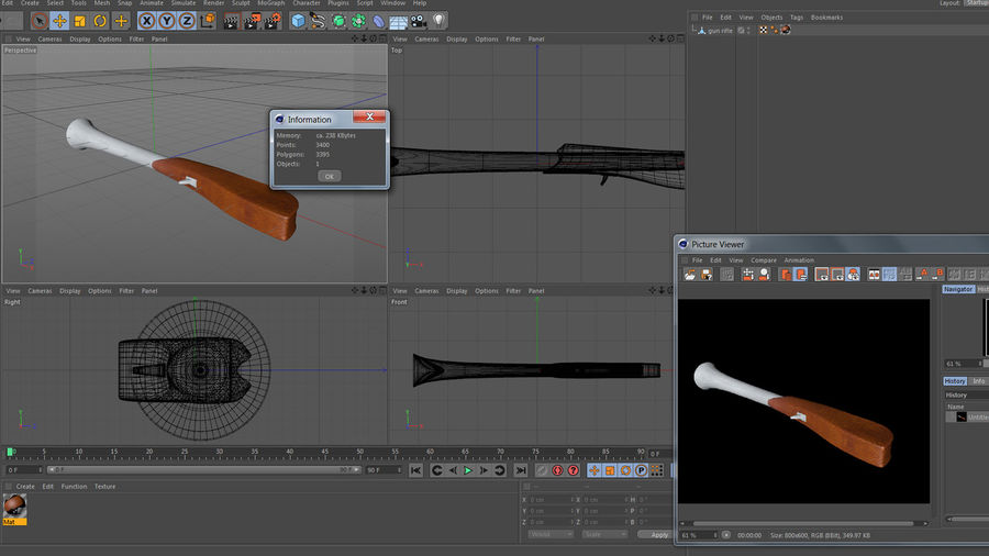 rifle de arma royalty-free 3d model - Preview no. 12