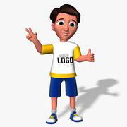 Cartoon Junge Kind 3d model