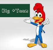 啄木鸟卡通 3d model