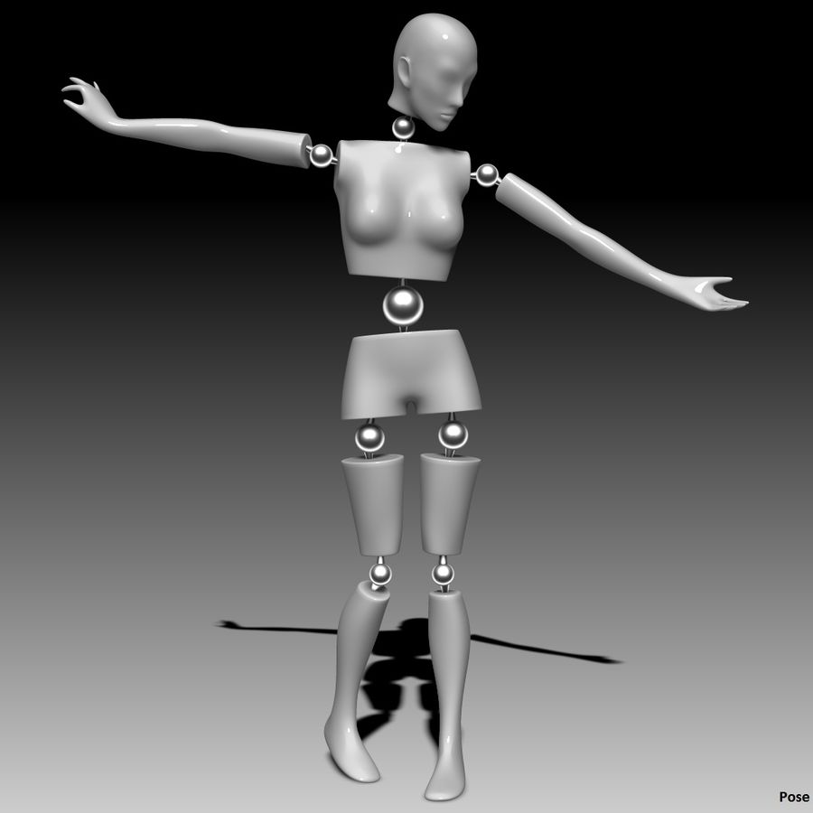 Manichino Donna royalty-free 3d model - Preview no. 1