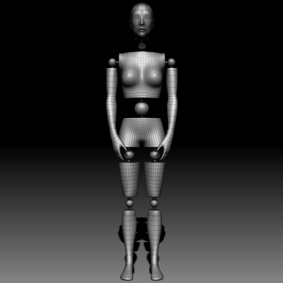 Manichino Donna royalty-free 3d model - Preview no. 11