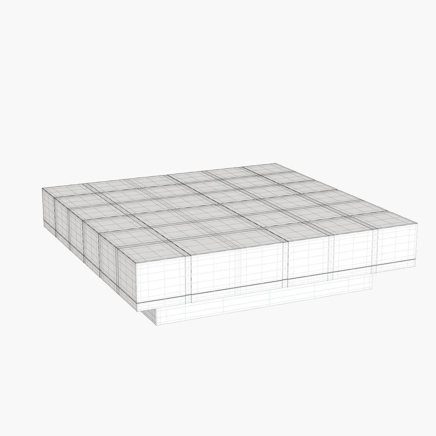 Mesa baixa simplificada de Papillon royalty-free 3d model - Preview no. 8