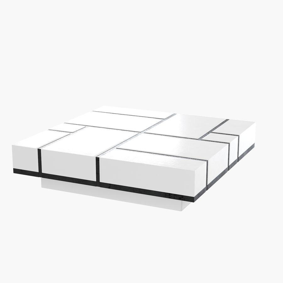 Mesa baixa simplificada de Papillon royalty-free 3d model - Preview no. 1