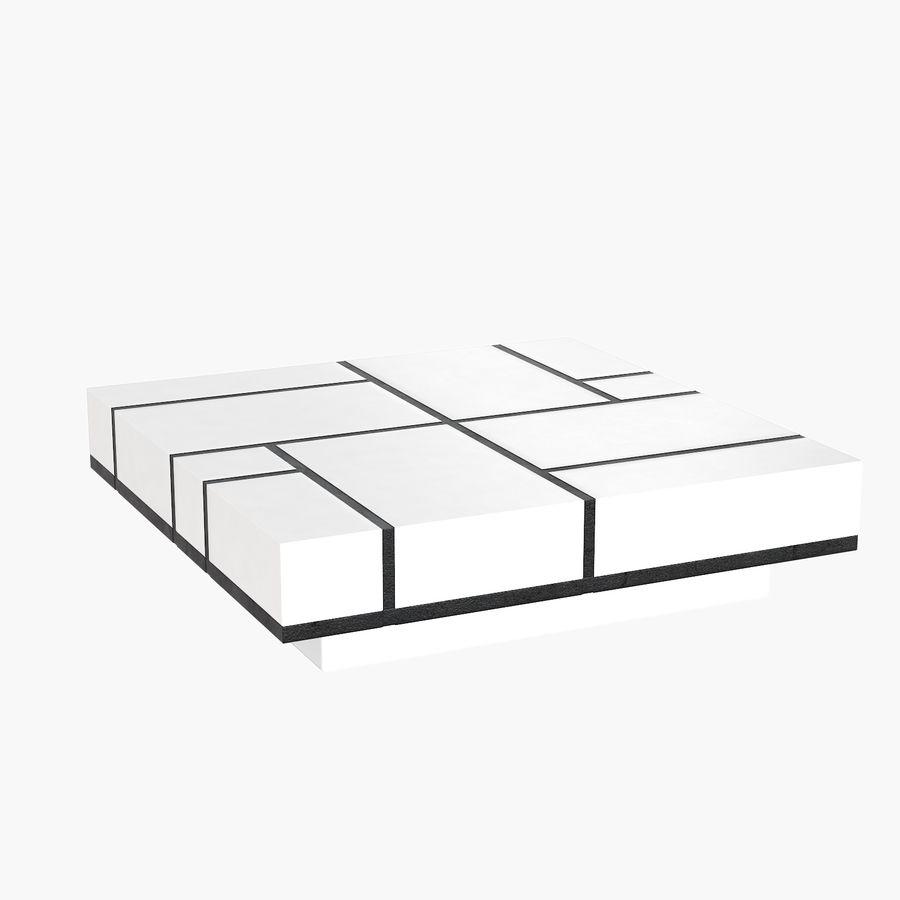 Mesa baixa simplificada de Papillon royalty-free 3d model - Preview no. 3