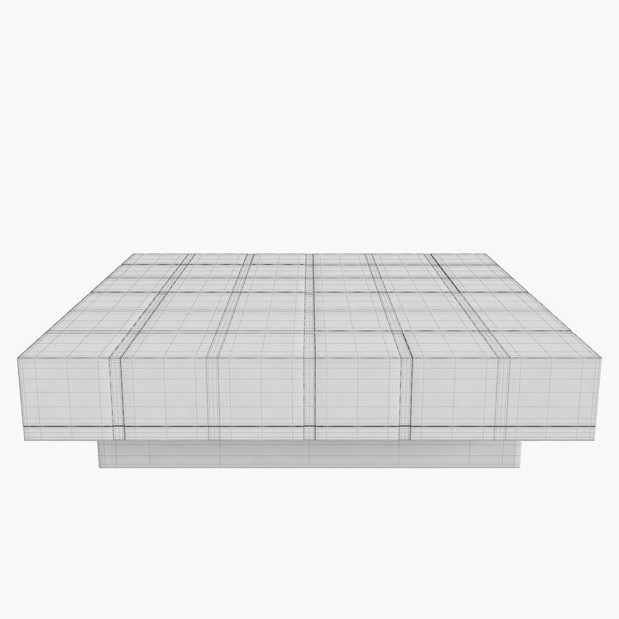 Mesa baixa simplificada de Papillon royalty-free 3d model - Preview no. 7