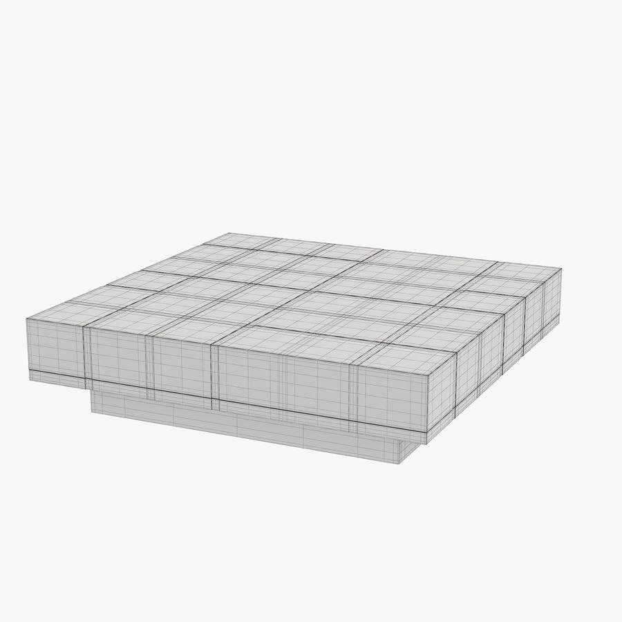 Mesa baixa simplificada de Papillon royalty-free 3d model - Preview no. 6