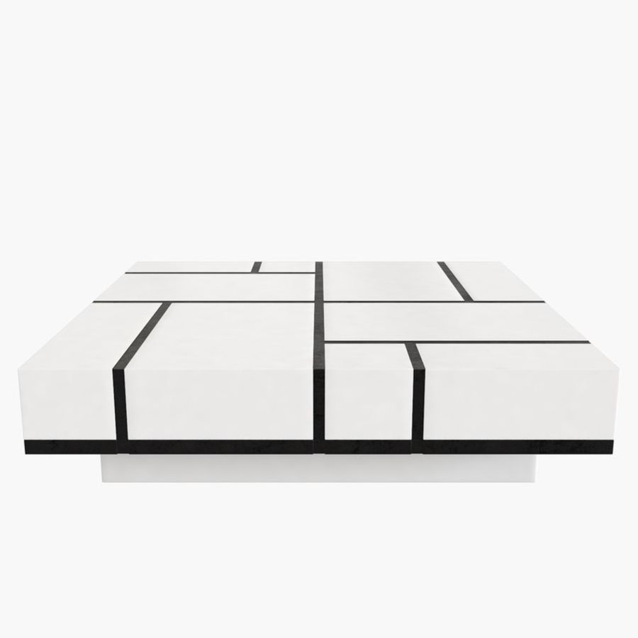 Kolaylaştırılmış Papillon Low Table royalty-free 3d model - Preview no. 2