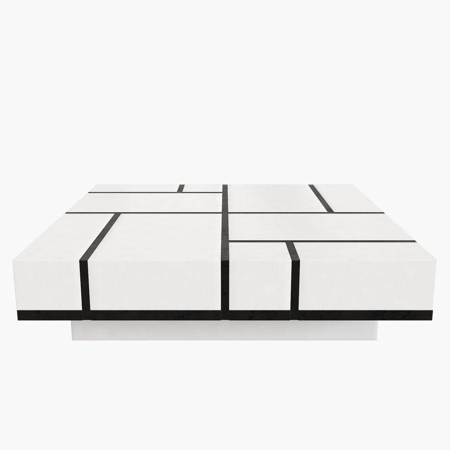 Mesa baixa simplificada de Papillon royalty-free 3d model - Preview no. 2