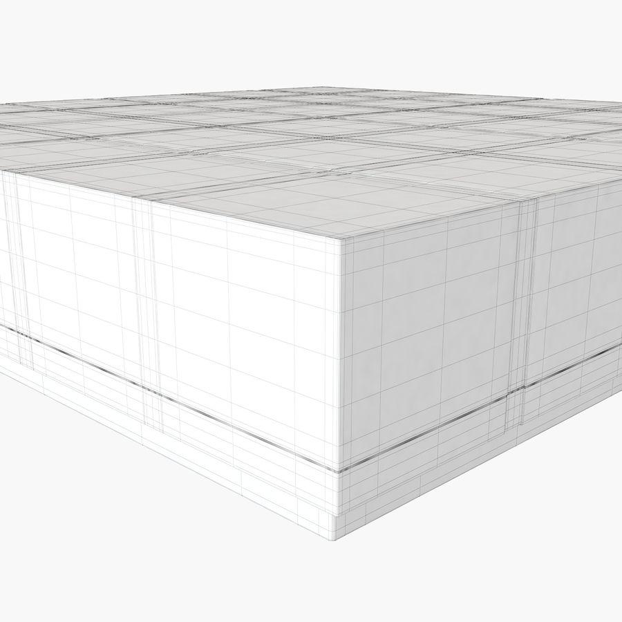 Mesa baixa simplificada de Papillon royalty-free 3d model - Preview no. 10