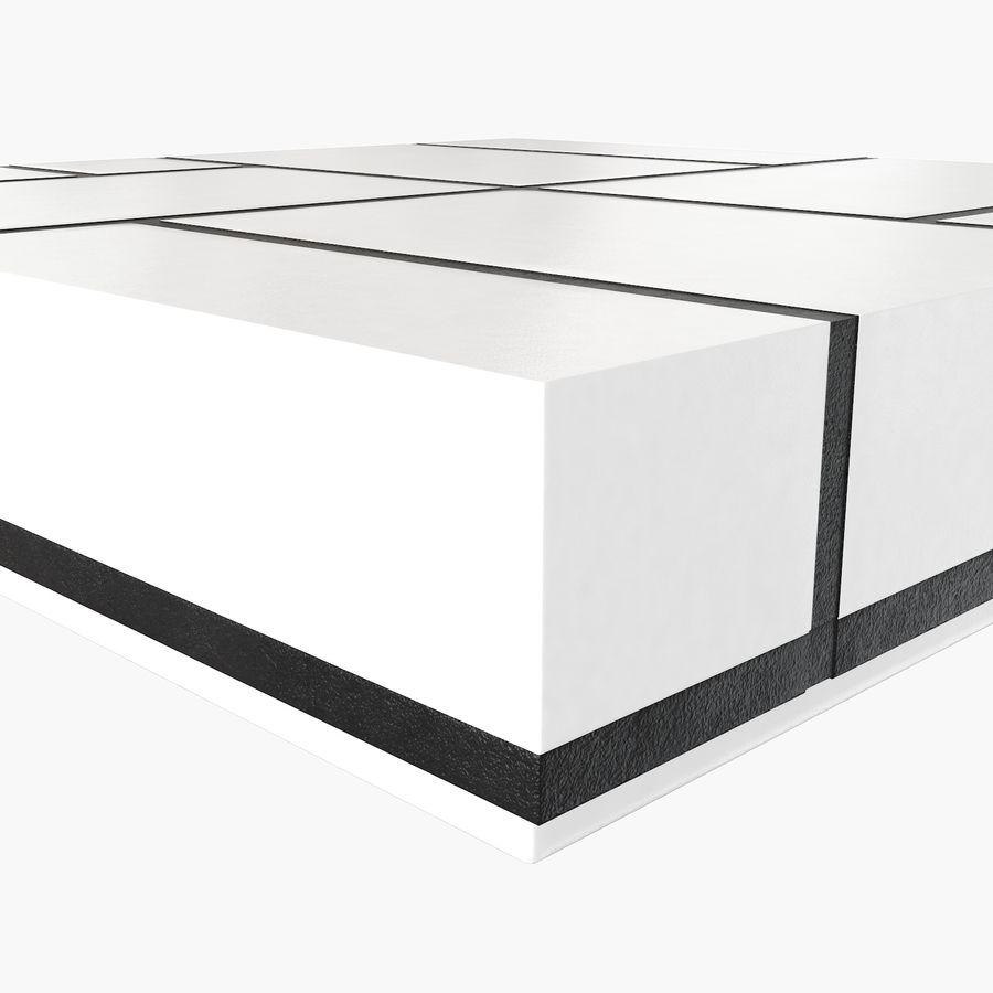 Mesa baixa simplificada de Papillon royalty-free 3d model - Preview no. 5