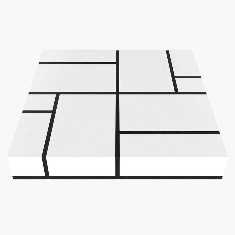 Mesa baixa simplificada de Papillon royalty-free 3d model - Preview no. 4