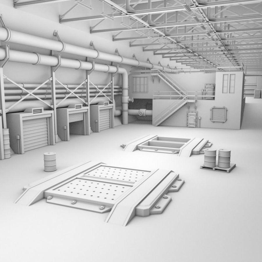 Hangar royalty-free 3d model - Preview no. 7