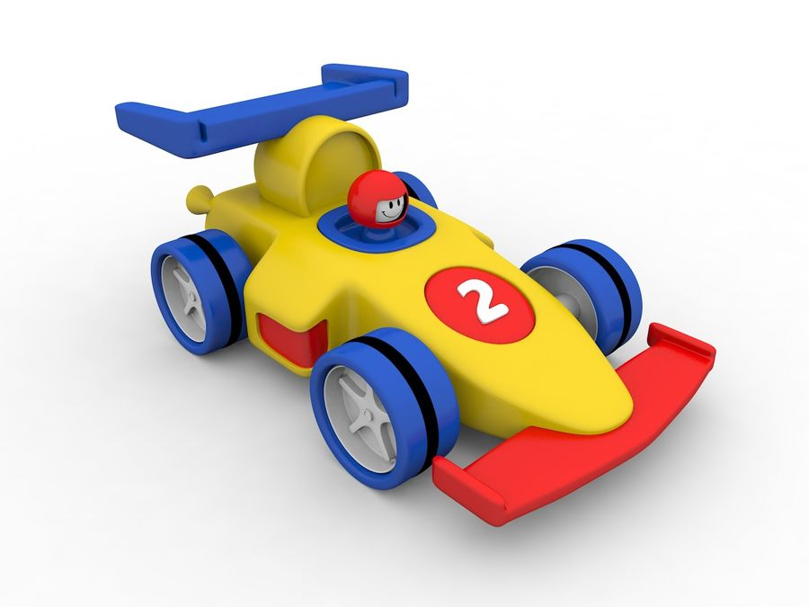 Cartoon Formula 1 Car royalty-free 3d model - Preview no. 1