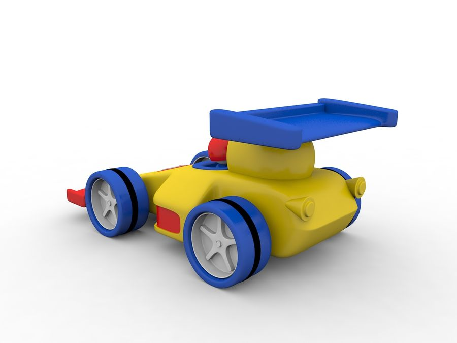 Cartoon Formula 1 Car royalty-free 3d model - Preview no. 4