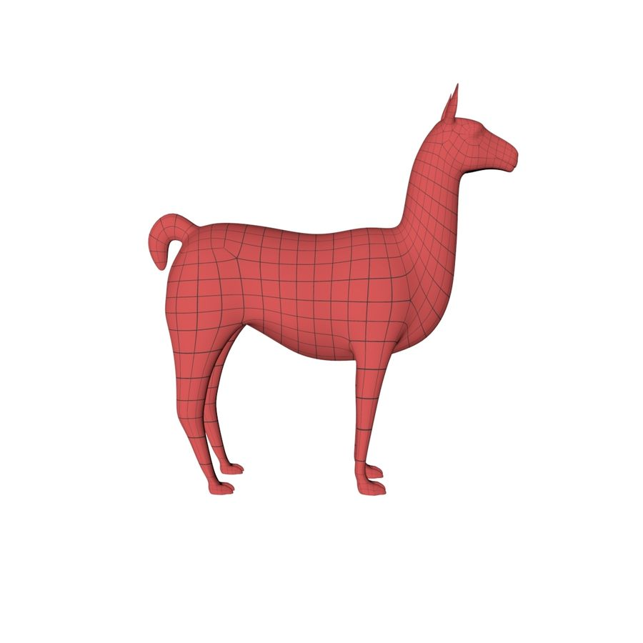 Lama basmask royalty-free 3d model - Preview no. 2