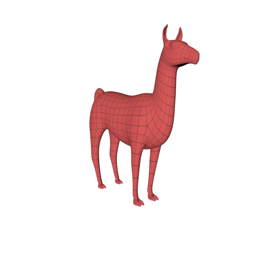 Lama basmask royalty-free 3d model - Preview no. 3