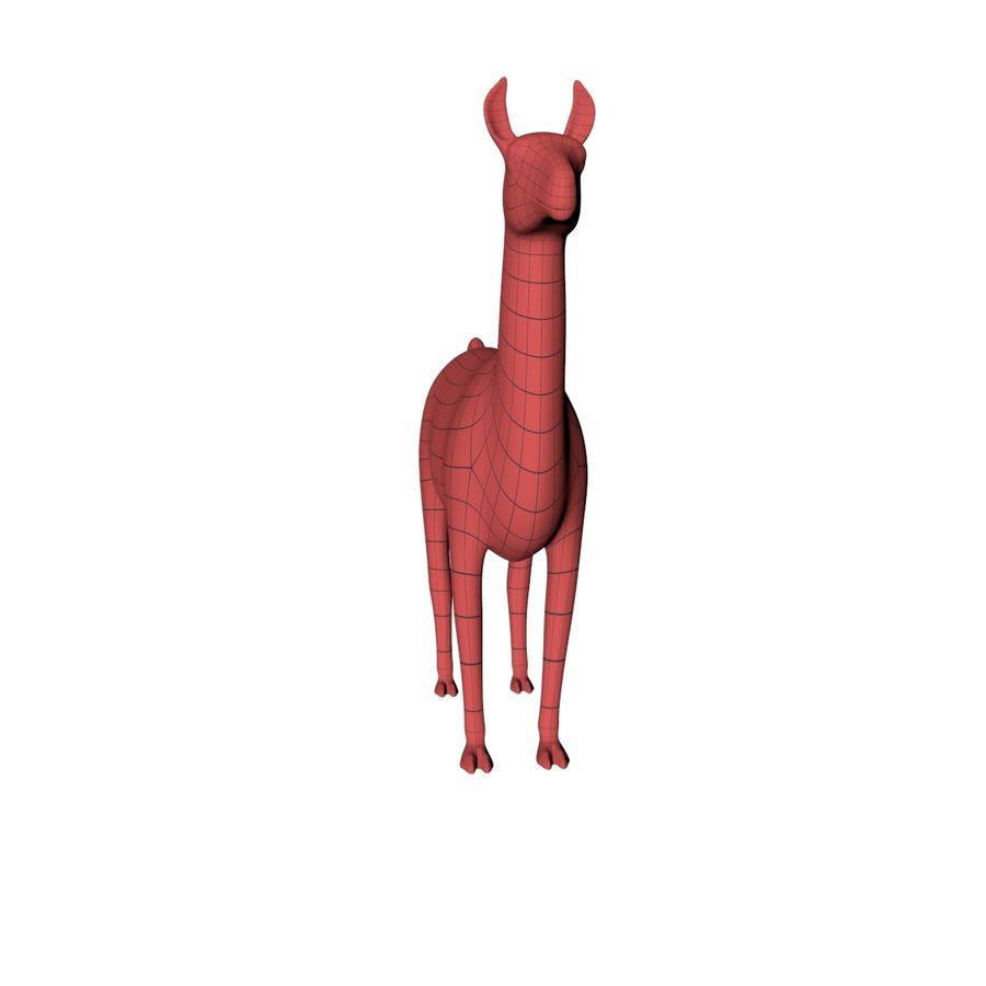 Lama basmask royalty-free 3d model - Preview no. 3