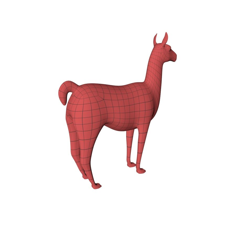 Lama basmask royalty-free 3d model - Preview no. 7