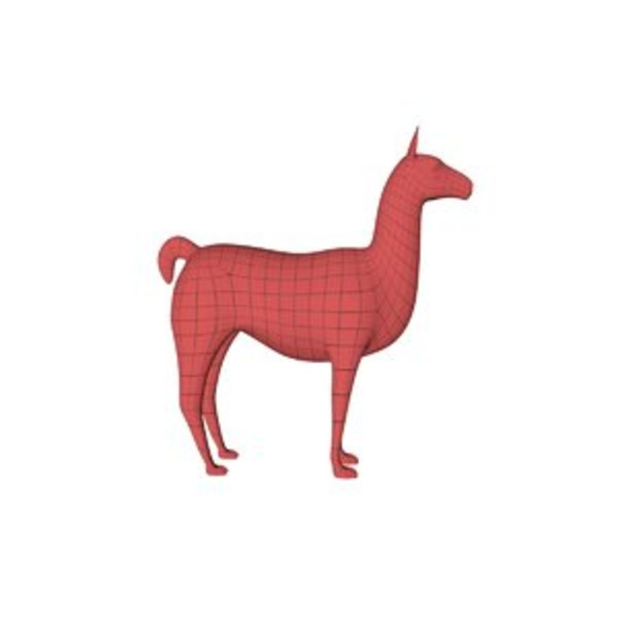 Lama basmask royalty-free 3d model - Preview no. 1