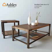 Zestaw 2 stolików Dexifield (Ashley) z dekoracją 3d model