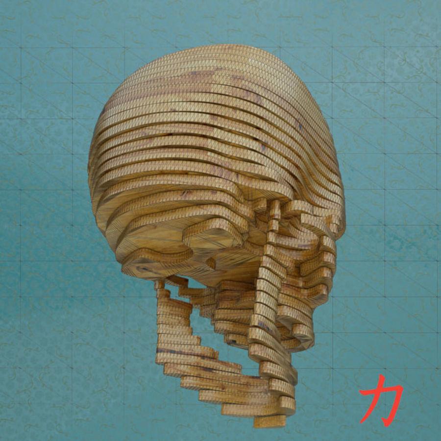 Drewniany szkielet royalty-free 3d model - Preview no. 7