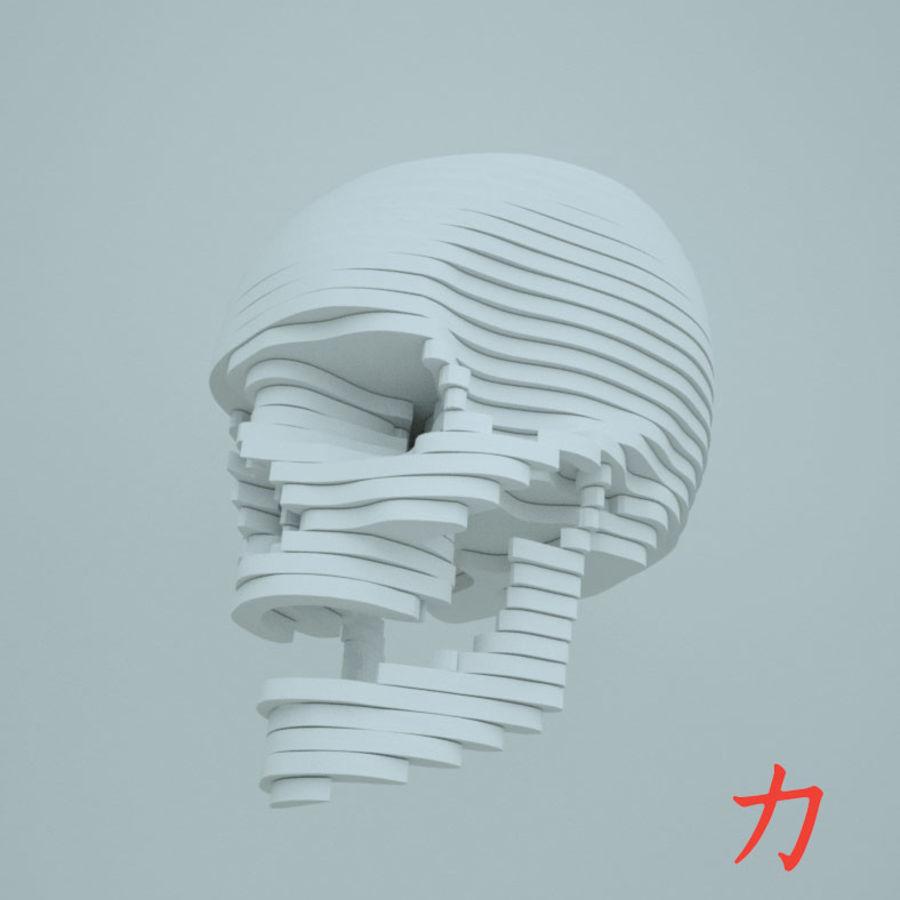Drewniany szkielet royalty-free 3d model - Preview no. 2