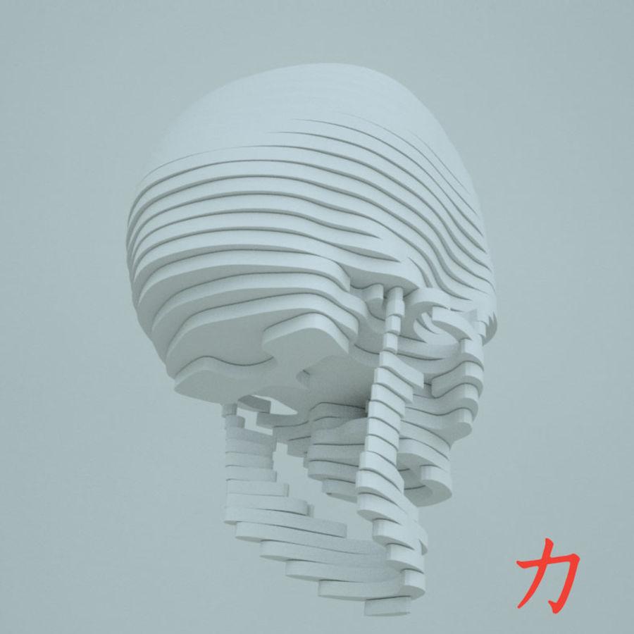 Drewniany szkielet royalty-free 3d model - Preview no. 4