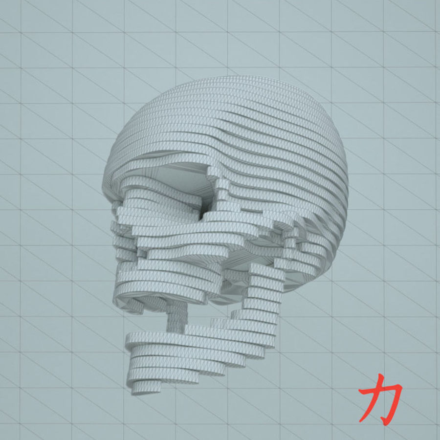Drewniany szkielet royalty-free 3d model - Preview no. 5