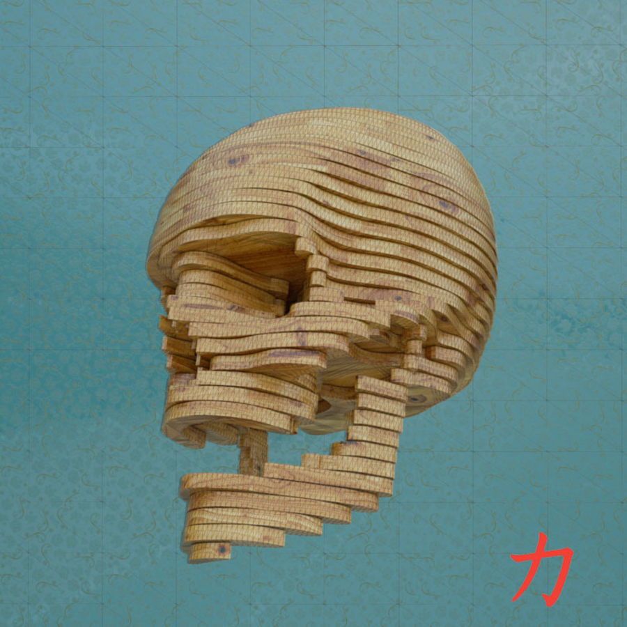 Drewniany szkielet royalty-free 3d model - Preview no. 8