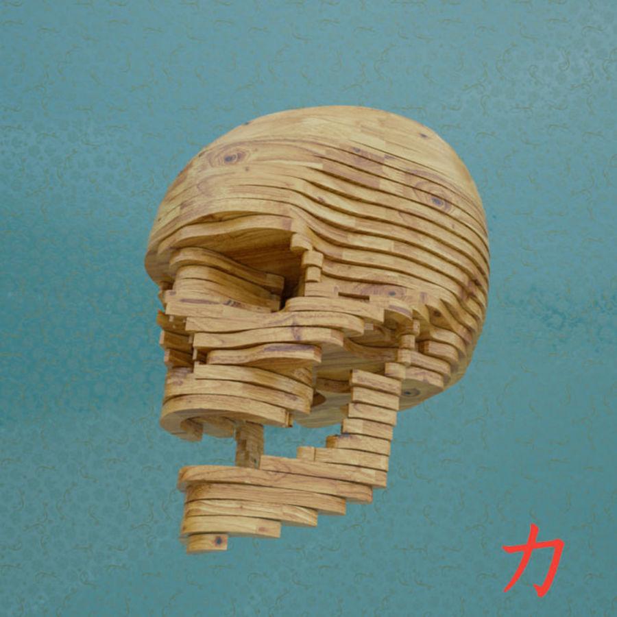 Drewniany szkielet royalty-free 3d model - Preview no. 1