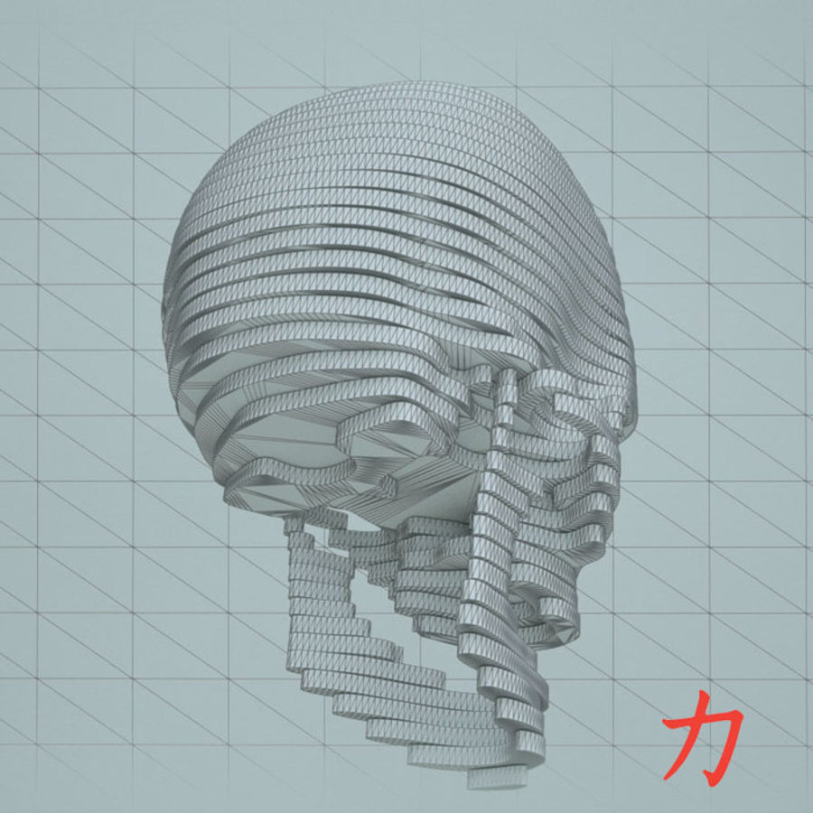 Drewniany szkielet royalty-free 3d model - Preview no. 6