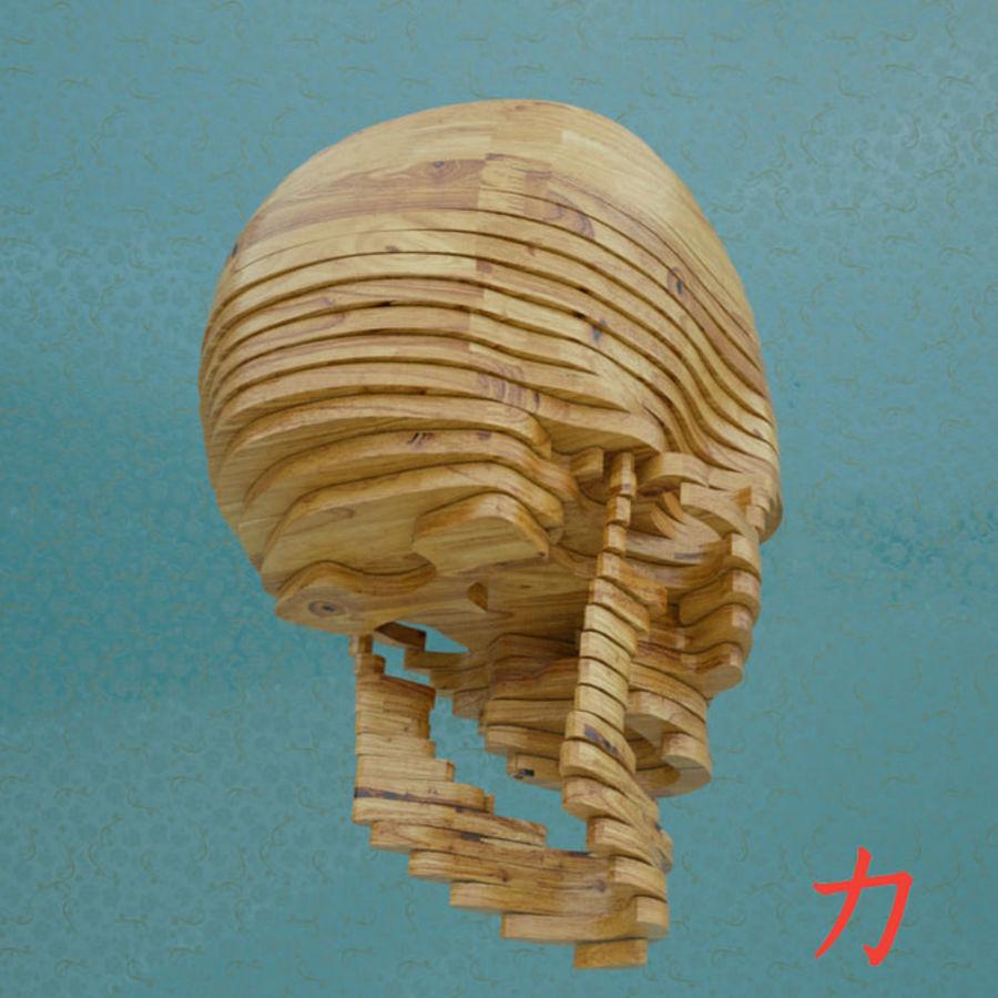 Drewniany szkielet royalty-free 3d model - Preview no. 3