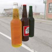 Пивные бутылки 3d model