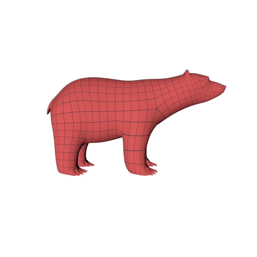 Malha base urso polar royalty-free 3d model - Preview no. 2