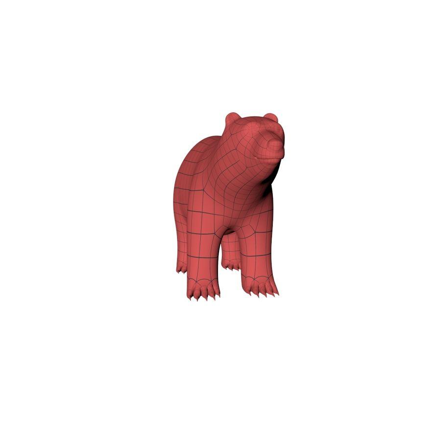 Malha base urso polar royalty-free 3d model - Preview no. 4