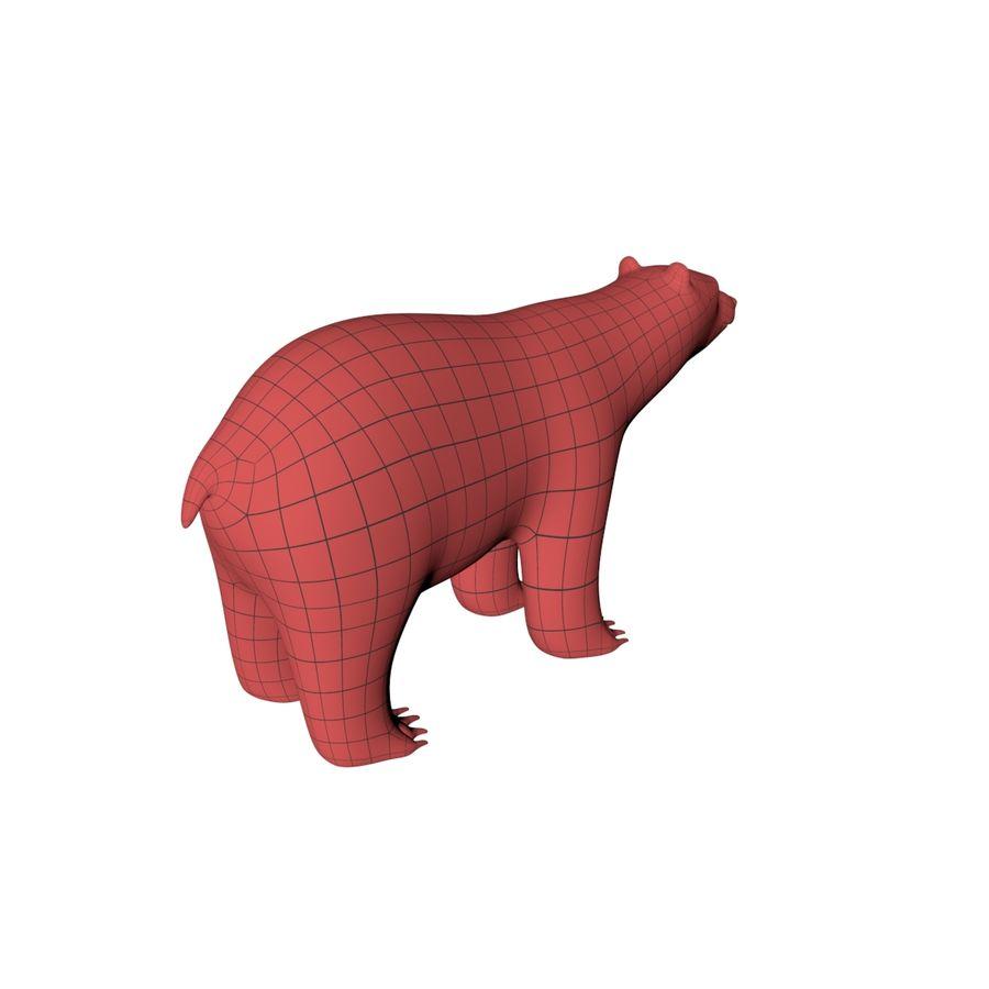 Malha base urso polar royalty-free 3d model - Preview no. 7