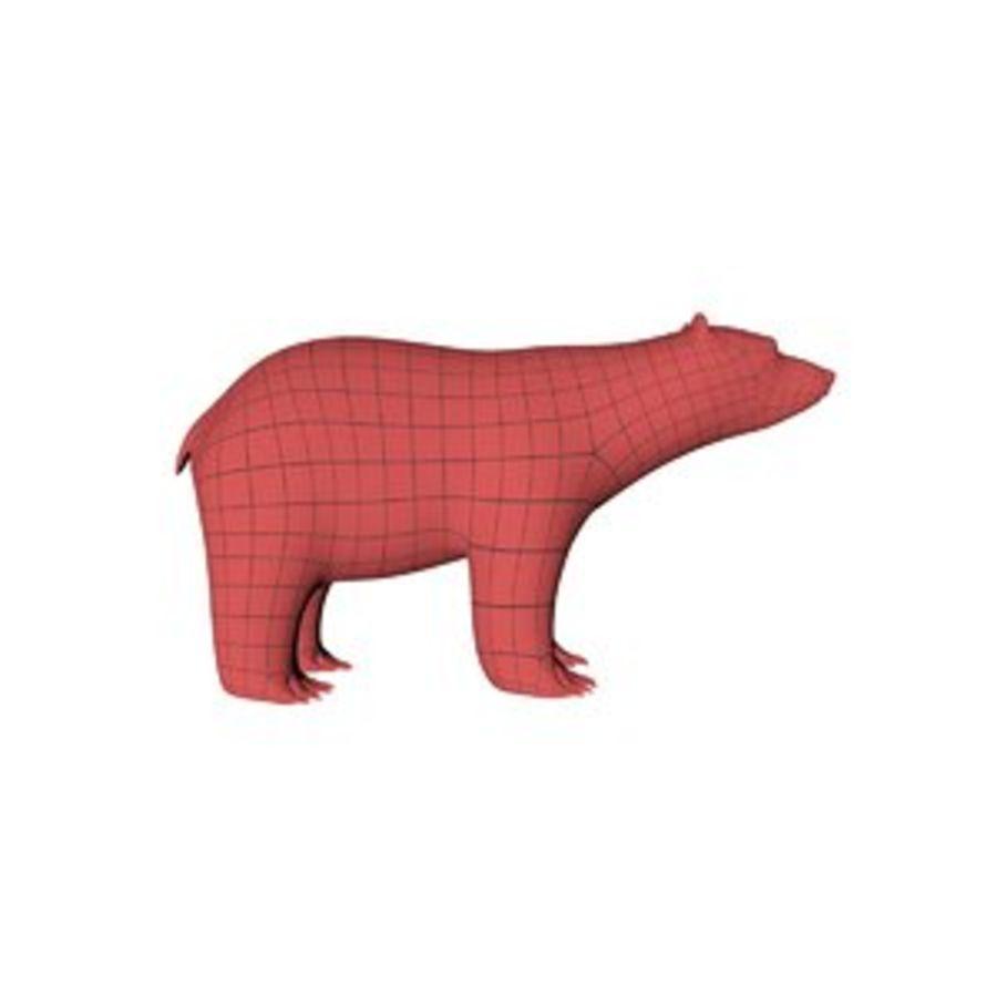 Malha base urso polar royalty-free 3d model - Preview no. 1
